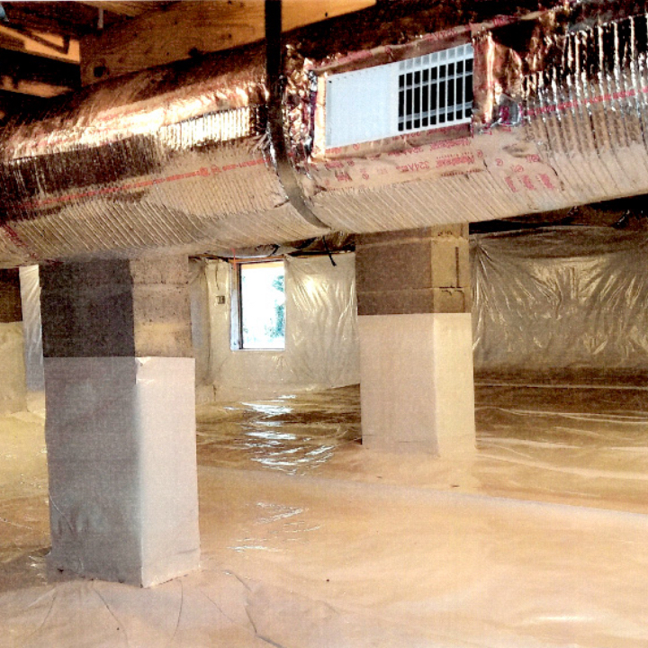 FINSIHED CONDITION CRAWL SPACE